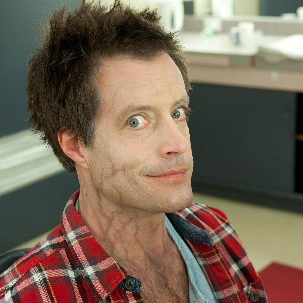 Dan gets his zombie makeup applied